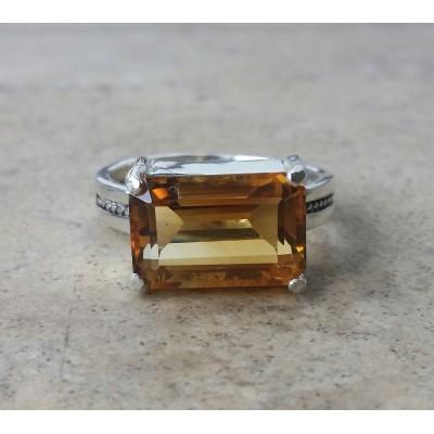 Imperial Citrine rectangular ring