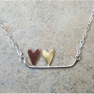 Hearts on a bar - personalized
