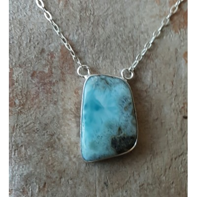 Larimar double loop Necklace