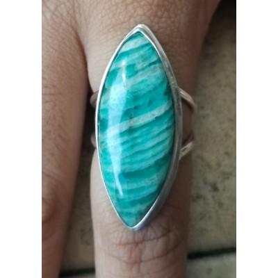Amazonite Marquise Ring