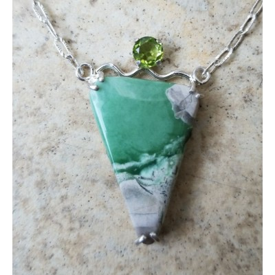 Variscite and Peridot necklace