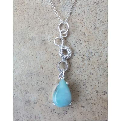 Larimar and circles Necklace