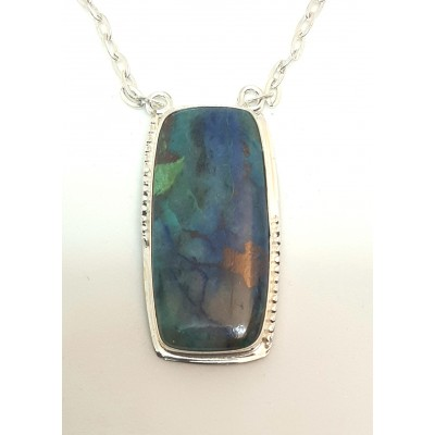 Azurite Chrysocolla Malachite in Sterling Silver