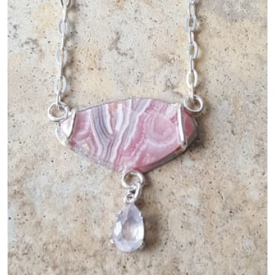 Rhodochrosite & Rose Quartz Necklace