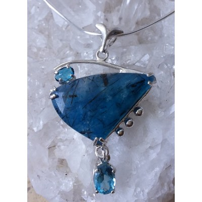 Apatite and London Blue Topaz Necklace