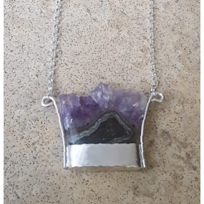 Amethyst Stalactite Necklace in Sterling Silver