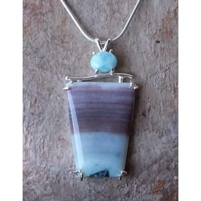 Amazonite and Larimar Necklace