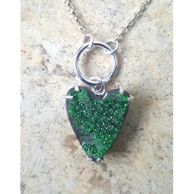 Uvarovite Heart Necklace
