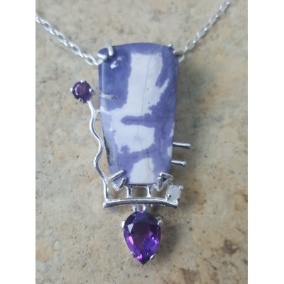 Tiffany Stone, Amethyst and Opal Necklace
