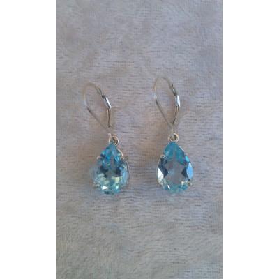 Sky Blue Topaz dangle drop earrings