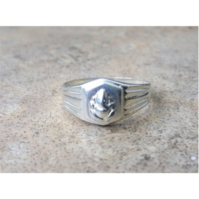 Ganesha Ring - Ganesha Spiritual Ring / Chakra / beginnings/ elephant god Ring for Women and Men in Sterling Silver and Gold