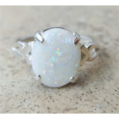 Opal ring / Genuine Opal ring - in Sterling Silver or gold - October Birthstone