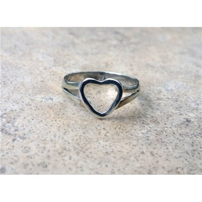 Heart Ring/See-Into-My-Heart Ring/Love/Friendship/Companionship in Sterling Silver and Gold
