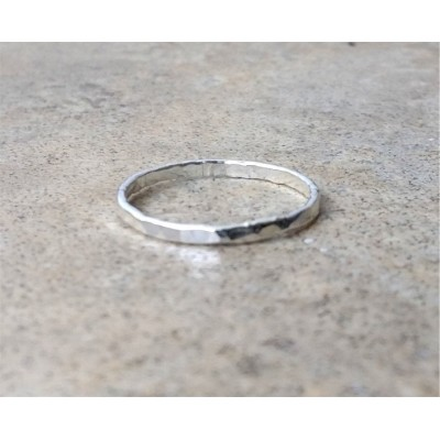 Single Silver Band / Hammered band / Ring  /  Stack Ring  / Thumb Ring / in Sterling Silver or Gold