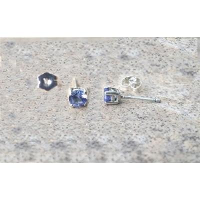 Tanzanite earrings - 4mmTanzanite stud earrings in Silver or Gold.