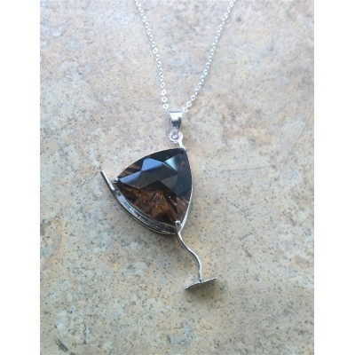 Smoky Topaz - 'Chocolate Martini' Necklace