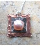 Copper, Silver & Pearl Necklace