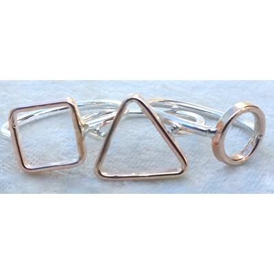 Geometric 2 tone ring