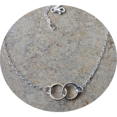 Infinity 2 tone necklace