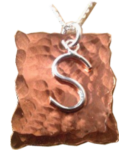 Copper and Silver Initial necklace