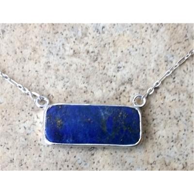 Lapis Lazuli rectangular necklace