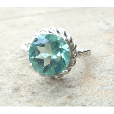 Sterling Silver Ring with Apatite