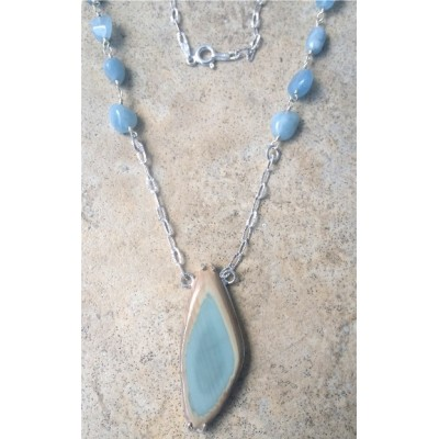 Royal Imperial Jasper and Aquamarine Necklace