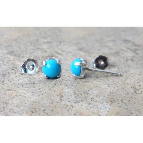 gg deals gold solid stud earrings cttw in rose genuine latest turquoise