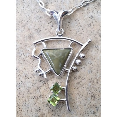 Willow Creek Jasper and Peridot Necklace